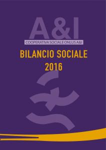 A&I Bilancio Sociale 2016