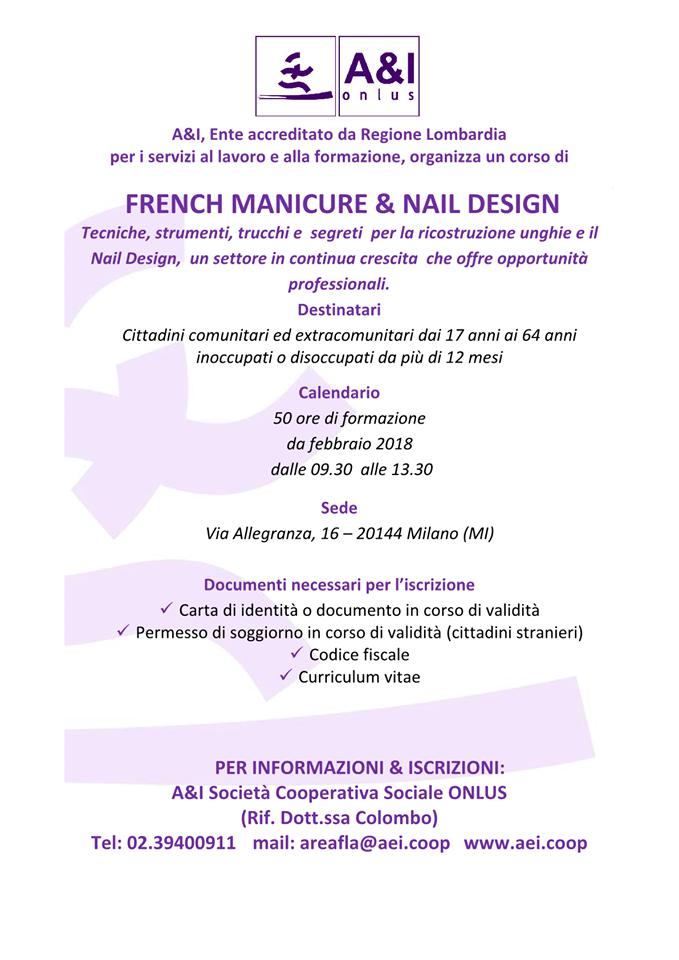 formazione corso french manicure ricostruzione unghie