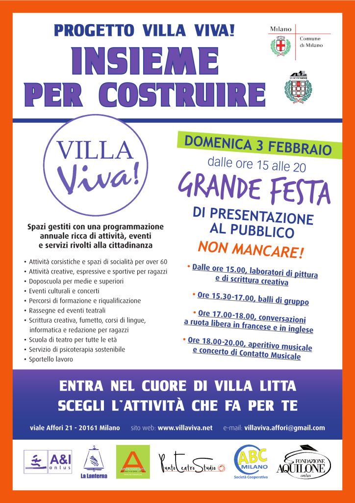 Villa Litta Affori Municipio9 festa cittadini lavoro disabili accoglienza integrazione