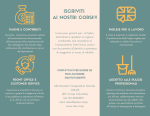 formazione lavoro inglese frontoffice pulizie paghe contributi payroll customer service